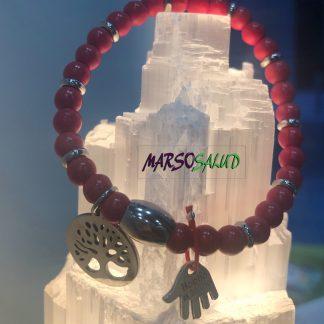 Pulsera-coral-rojo-arbol-vida-amuleto