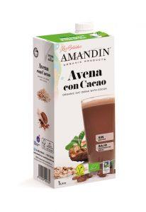 Bebida avena cacao 1L, ecológica, caja de 6 unidades.