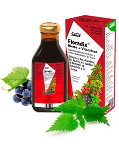 Floradix jarabe 250ml vitaminas hierro para disminuir cansancio y fatiga